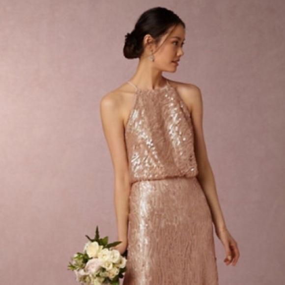 Donna Morgan Dresses | Bhldn Champagne Sequin Gown | Poshmark